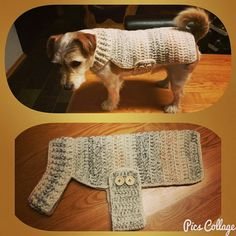 Crochet Crafts, Crochet Projects, Crochet Designs, Crochet Patterns, Crochet Dog Sweater, Dog Jumpers, Dog Jacket, Pet Fashion, Dog Wear