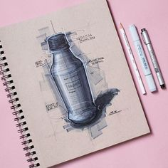 @soylent bottle by @mckay.nilson. . . . . #instilldesign #idsketching #sketch #sketching #sketchdemo #sketchbook #markersketch #copicmarkers #doodle #pencilsketch #representation #glass #aluminum #productdesign #illustration #productdesignsketching #industrialdesign #industrialdesignsketch #sketchoftheday #sketchaday #designer