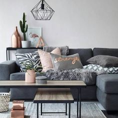 Copper accents are perfect if you aren't into bright colors or you have a monochromatic space. #xoHome
