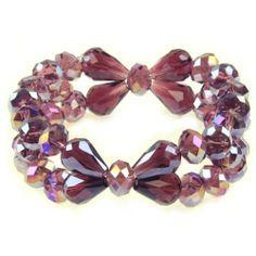 Purple Crystal Bracelet Jouel. $6.95