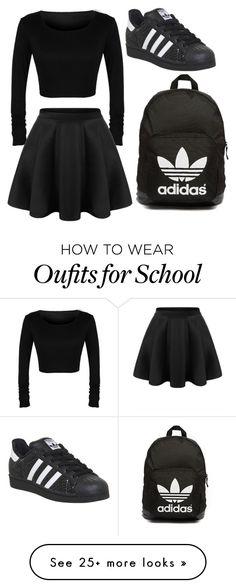 """school"" by rabiadurunengel on Polyvore featuring adidas Originals and adidas"