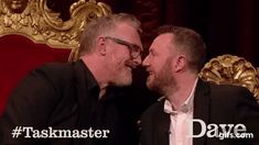 Taskmaster The Kiss Greg Davies, British Comedy, Going Crazy, Gorgeous Men, I Laughed, Famous People, Fangirl, Kiss, Tv