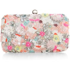 Accessorize Neon Floral Hardcase Clutch Bag ($89) ❤ liked on Polyvore featuring bags, handbags, clutches, bolsas, purses, floral handbags, hand bags, neon pink purse, man bag and floral purse