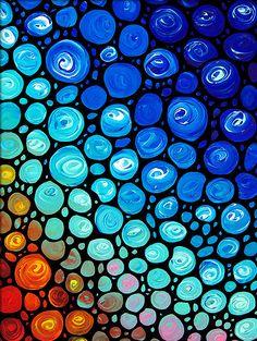 Coup d'oeil de verre coloré Abstrait Art par BuyArtSharonCummings