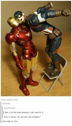 Wouldn't it have to be rdj on the chair... Him being short and all