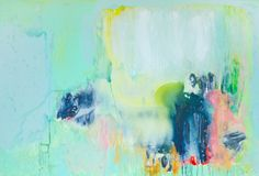 """""""Wide Open"""" by Claire Desjardins. 48""""x72"""" - Acrylics on canvas."""