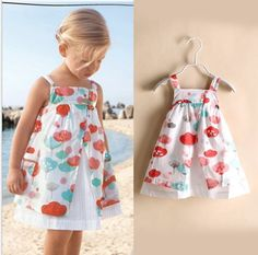 Find More Dresses Information about  2014 new summer  girl fashion Cotton printed Dandelion flower cute princess dresses 6pcs/lot,High Quality Dresses from Leader international trade company on Aliexpress.com