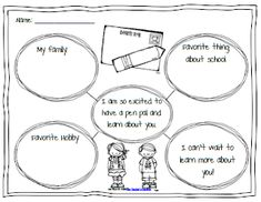 Pen Pal Letter writing template for children. Love this