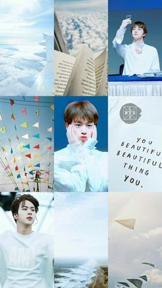 You beautiful little thing Aesthetic Themes, Blue Aesthetic, Kpop Aesthetic, Birthday Places, Theme Background, Kim Jin, Bts Lockscreen, Worldwide Handsome, Bts Photo
