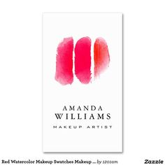 Red Watercolor Makeup Swatches Makeup Artist
