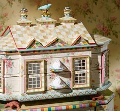 A beautiful view of our Chicken Palace Jewelry Box.