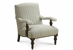 Sanchez Armchair, Cream/Slate