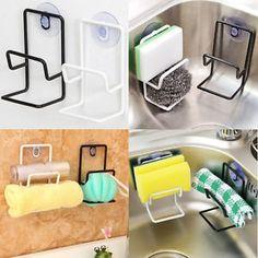 Kitchen Organizer Rack Sink Storage Draining Towel Sponge Holder Suction Cup UK in Home, Furniture & DIY, Cookware, Dining & Bar, Food & Kitchen Storage