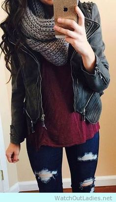 Earth Tones and Jeans!! The best outfit style you would want to try this fall! Have a look pretty ladies <3