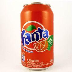Fanta Laranja - Aquele Momento Ice Cream Van, Fanta Can, Milkshake, Yummy Drinks, Juice, Food And Drink, Product Labels, Canning, Picsart