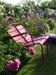 Double seats Luxembourg garden chairs