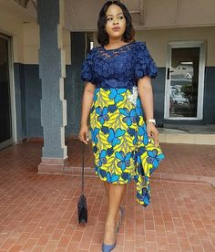 Ankara Asoebi Styles Collection from 2019 - skirt African Fashion Ankara, Latest African Fashion Dresses, African Print Fashion, African Style, Short African Dresses, African Print Dresses, African Print Dress Designs, Ankara Stil, African Traditional Dresses