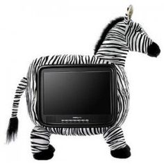 Cool Televisions for kids--Have you seen these fun shaped tvs? Animal shaped televisions in Giraffes, Zebras, Crabs, Sports theme shaped Basketballs,... Tire Chairs, Zebra Decor, Shapes For Kids, Television Set, Home Tech, Christmas Toys, Zebras, Giraffes, Dorm Decorations