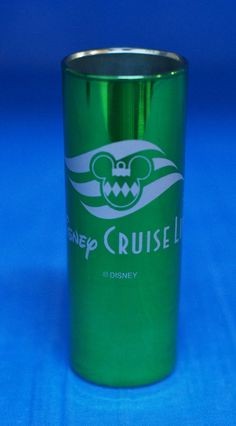 Disney Cruise Line DCL Green Glass Tall Shot Glass Toothpick Holder #DisneyCruiseLine