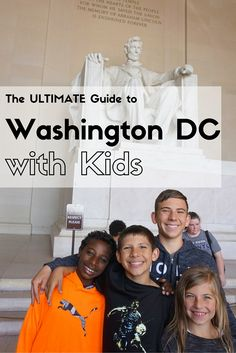 The_Ultimate_Guide_to_Washington_DC_with_Kids. Find the best things to do in Washington DC with your family, learn about our favorite places to stay and where to find the best kid-friendly food all in one easy to read guide. Viaje A Washington Dc, Washington Dc With Kids, Washington Dc Vacation, Washington Dc Tours, Summer Travel, Travel With Kids, Family Travel, Family Vacations, Family Trips