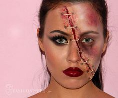 Half Glam/ Half Zombie Halloween Makeup Tutorial. Click on it twice and it will take you to the web site.