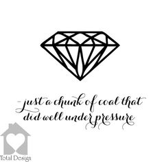 Diamond - Just a chunk of coal that did well under pressure Wall Decal Quote , Home art decor 2026_