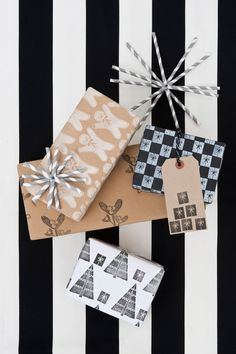 Community Post: 15 Stunning Gift Wrapping Ideas For The Minimalist In You Wrapping Ideas, Wrapping Gift, Creative Gift Wrapping, Gift Wrapping Supplies, Christmas Gift Wrapping, Diy Christmas Gifts, Creative Gifts, Holiday Gifts, Wrapping Papers