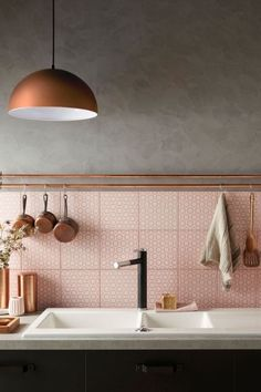 This backsplash to end all backsplashes. | 21 Pictures Of Pink Things To Soothe Your Weary Soul