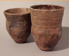 bronze age beakers reproduced by Graham Taylor