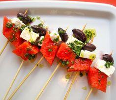 Watermelon and Feta Skewers Recipe | POPSUGAR Food