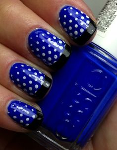 French Blue Nail Art