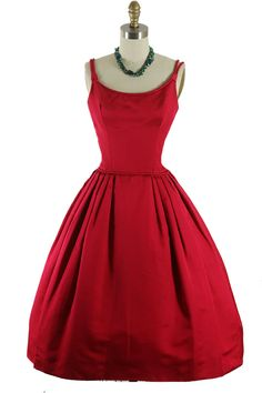 50s red dress - loved the '50s fashions...everything was very feminine.
