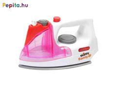 Simítsd ki a ruhákat a műanyag vasalóval! A rózsaszín-fehér színű Elektromos vasaló egy szép kidolgozású háztartási eszköz, amivel a ruhákat tudod széppé és simává varázsolni. A vasaló hangokat ad ki magából, gombnyomásra világítani kezd, a vasalóval le is tudod spriccelni a ruhát, hogy könnyebben ki lehessen vasalni. A játék 2 darab AA ceruzaelemmel működik, a csomagolás az elemeket nem tartalmazza. A rózsaszín-fehér Elektromos vasaló méretei: 17 x 10 x 11 cm. Happy Family, Home Appliances, Iron, Products, House Appliances, Appliances, Gadget, Steel