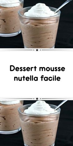Nutella mousse dessert easy a delicious creamy cream for your meal purposes. here is how to make nutella mousse dessert easy at home. Mousse Dessert, Dessert Dips, Dessert Au Nutella, Mousse Au Nutella, Bon Dessert, Oreo Balls Recipe 3 Ingredients, Baking Ingredients, Perfect Chocolate Chip Cookie Recipe, 3 Ingredient Desserts