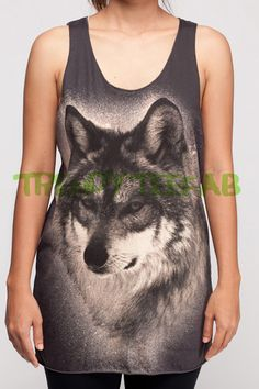 Wolf Wolves Tank Top Jacob Animal Women Tops Black T-Shirt Singlet Shirt Unisex Size S M L    * Materials *    100% Cotton  Softly and Comfortable.