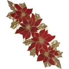 Beaded Poinsettia Table Runner from Pier 1 imports. Saved to Christmas Time. Shop more products from Pier 1 imports on Wanelo.