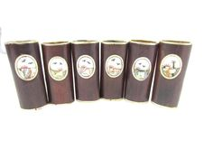 1 Vintage Silver Tone Brown Wood Look Shell by TreasureTrovebyTish