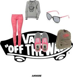 Pretty vans inspired outfit minus the book-bag