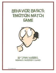 """Emotion Match Game"" is designed to teach older students to recognize and label various emotions. This skill building packet includes 60 student learning cards which can be used in the one to one and small group settings with students on the autism spectrum as well as others with social and behavioral skill challenges. These cards also make great discussion starters and writing prompts. $3.00"
