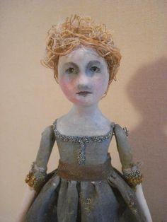Michelle  original prim art doll by SusanHopkirk on Etsy, $65.00