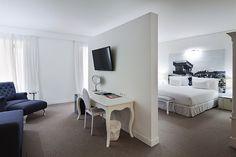 Quarto Suite Júnior - Os nossos 72 quartos estão equipados com a tecnologia mais avançada, uma decoração de vanguarda e todas as comodidades que um hotel desta categoria pode oferecer para tornar a sua estadia inesquecível.
