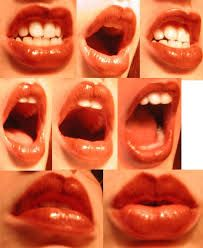 Image result for puckered lips reference side view