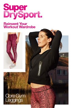 78b461da69039f Add a whole new level of edgy style to your workouts with these gym leggings  in. Superdry