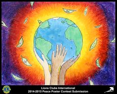 2014-15 Lions Clubs International Peace Poster Competition submission from Guam Latte Stone Lions Club in Guam