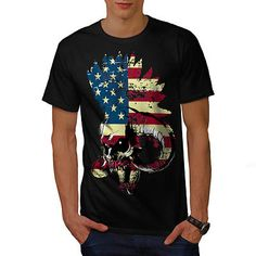 #American usa skull #horror flag men t-shirt #s-5xl new | wellcoda,  View more on the LINK: http://www.zeppy.io/product/gb/2/291939151728/