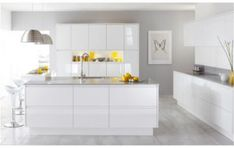 white modern kitchen cabinets are really gorgeous to install to your modern home design. And by adding those ideas above, it can be very more amazing and sophisticated. Modern Kitchen Cabinets, Kitchen Cabinet Design, Interior Design Kitchen, Kitchen Furniture, Room Interior, Kitchen Designs, Kitchen Modern, Kitchen Ideas, Modern Kitchens
