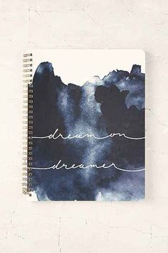 Dream On Dreamer Notebook Shop Dream On Dreamer Notebook at Urban Outfitters tod. - List of the most creative DIY and Crafts Diy Notebook Cover, Notebook Design, Journal Notebook, Dream On Dreamer, Cute Notebooks, Diy School Supplies, Journal Covers, Bookbinding, Sketchbooks