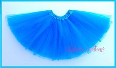 Neon Blue Ballet Tutu by LillyBearCreations on Etsy, $7.50