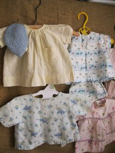 Antique  Lot of Sweet Handmade Baby Doll Clothes by ShaneLilyRain, $15.00