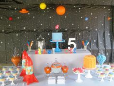 space party table